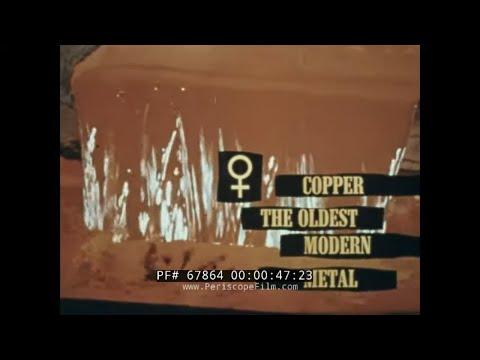 1962 PHELPS DODGE / U.S. DEPT. OF INTERIOR  COPPER MINING FILM   SMELTING, USES OF COPPER 67864