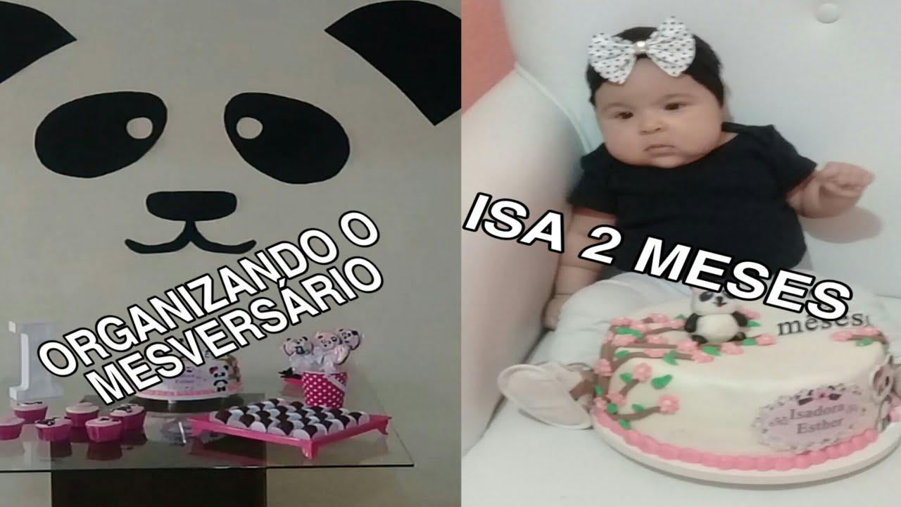 DECORAÇÃO PARA MESVERSÁRIO DO URSO PANDA
