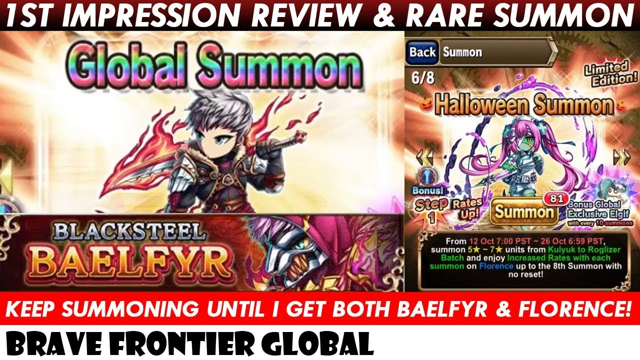 Baelfyr 1st Impression & Rare Summon For Baelfyr & Florence! (Brave
