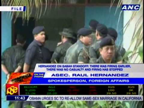 [11:40am] Hernandez: We are coordinating with Malaysian gov't on Sabah standoff