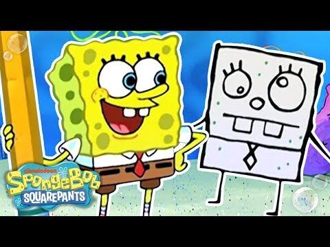 DoodleBob Comes To Life! ✏️ #TBT | SpongeBob