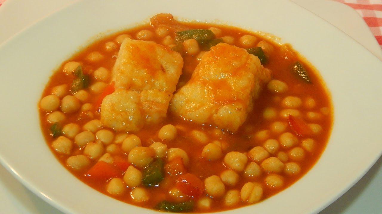 receta de garbanzos con bacalao f cil y tradicional youtube