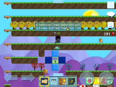 Harvesting Treasure Chest Trees Growtopia Youtube