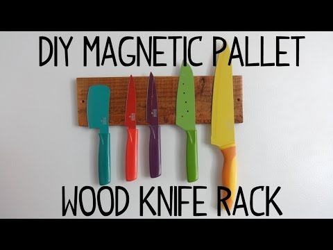 DIY Magnetic Pallet Wood Knife Rack!