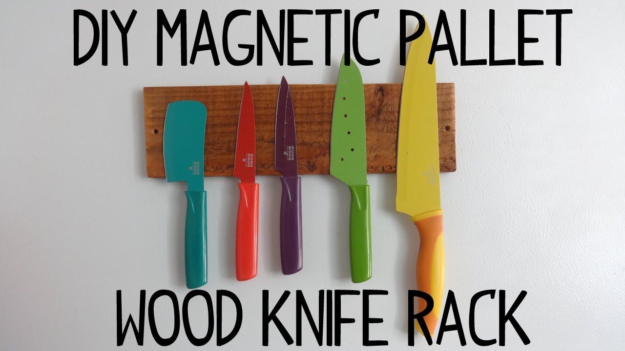 diy magnetic pallet wood knife rack youtube rh youtube com