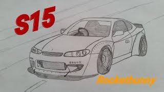 EASY-How to Draw Nissan Silvia S15(Rocketbunny)
