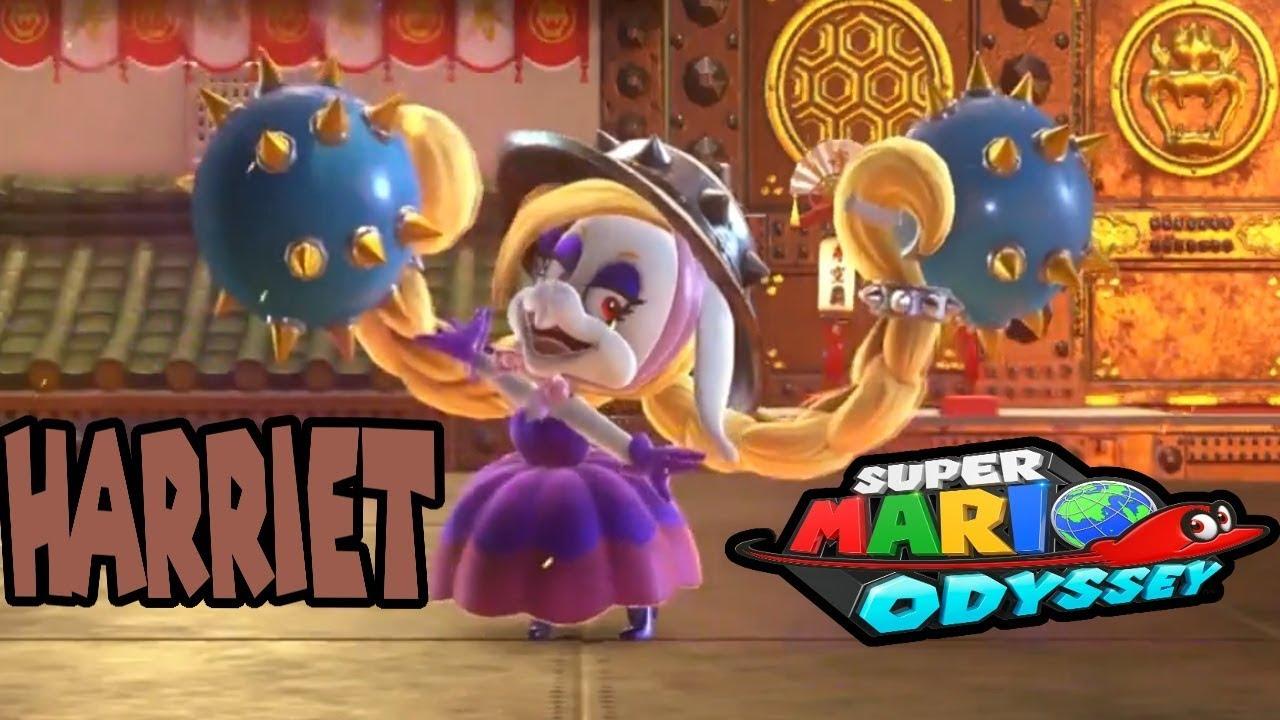 Super Mario Odyssey Harriet Boss Bowser S Kingdom Battle Youtube