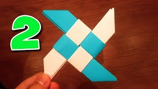 How To Make A Paper Ninja Star 2 (Shuriken) - Origami