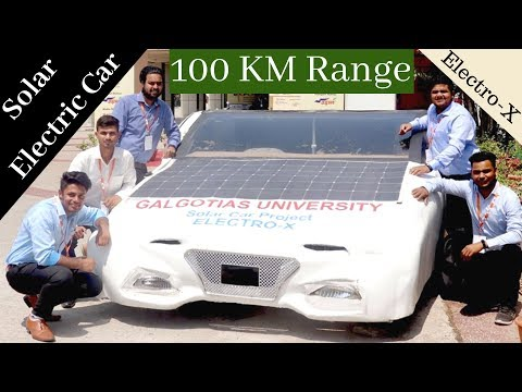 Btech Students Made Solar Electric Car in India | Electro-X