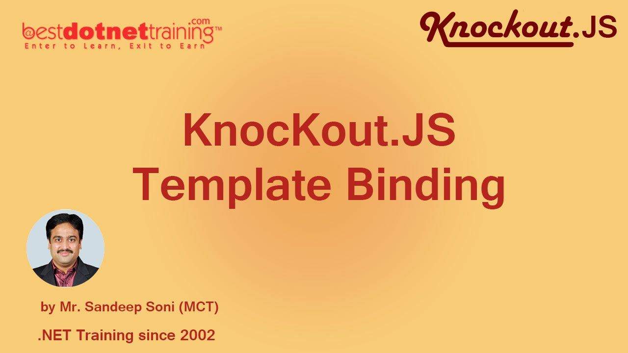 Part 10- Template Binding in Knockout .JS - YouTube
