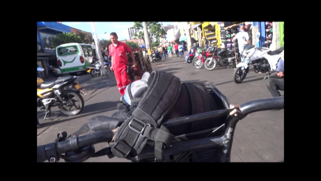 Caída desde bicicleta. Los usuarios de Encicla opinan