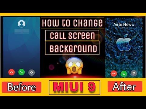 How to change default caller image wallpaper in MIUI 9/10