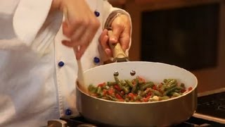Italian-style Green Beans Fried With Garlic, Olive Oil & Diced Tomatoes : Italian Eating