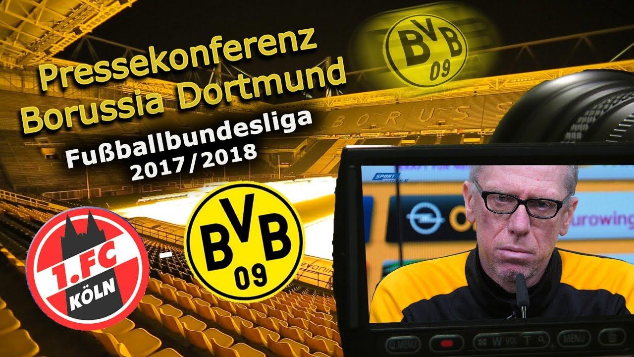 1. FC Köln - Borussia Dortmund: Pk mit Peter Stöger