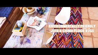 Environmentally friendly jute floor rugs for your home