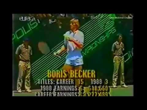 Boris Becker vs McEnroe Final - Indianapolis 1988