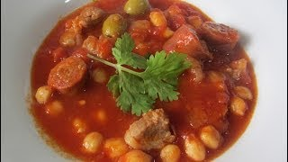 Chorizo, Chick Pea And Pork Stew