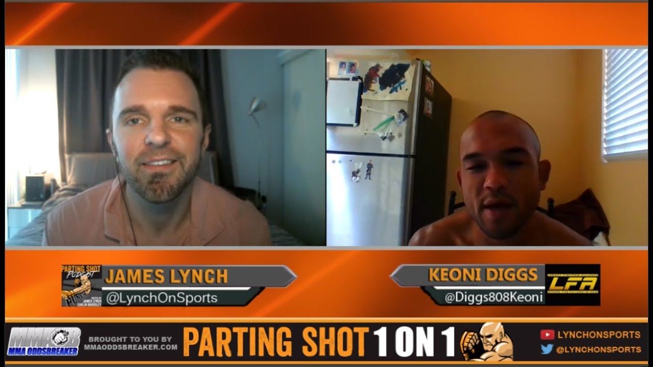 LFA 24's Keoni Diggs talks Nick Chasteen matchup and training at The MMA Lab