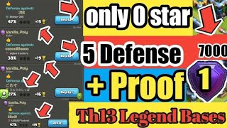 Only 0 Star   Best TH13 War Base (2020) +4 Defense Replay Proof+ LINK (3 Star Impossible) July 2020