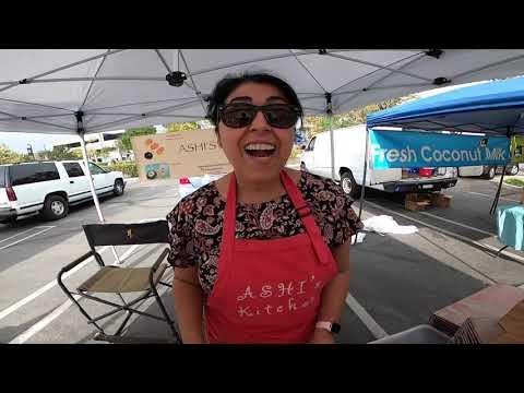 visiting best farmer's market in irvine to buy best vegan & gluten free cookies from ashi's kitchen