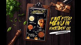 Pizza Restaurant Flyer Design - Photoshop CC Tutorial   Menu