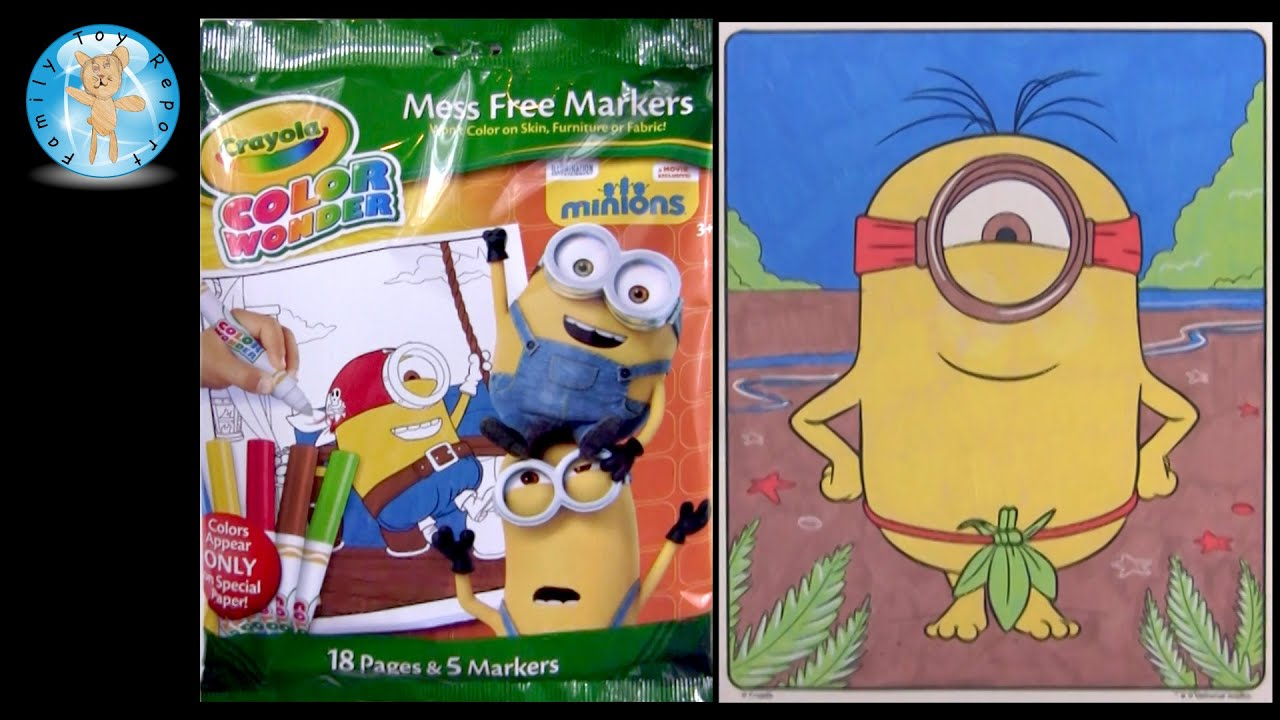 Minions Movie Crayola Color Wonder Coloring Set Review