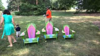 Take A Seat!  Adirondack Chairs Re-interpreted At Morris Arboretum, Summer 2012