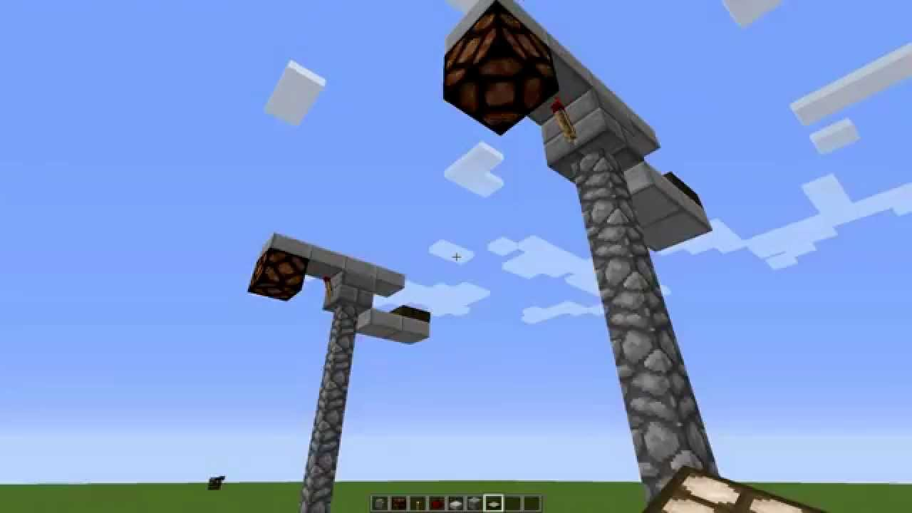 How to make an Redstone Lamp post in Minecraft - YouTube