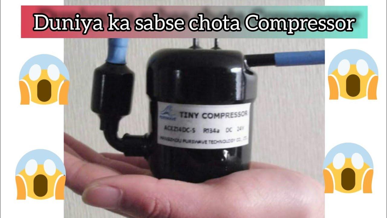 Purswave Tiny Compressor 12 Volt 1 4ccm Type St14dc12h Invertor Ac Compressor Youtube