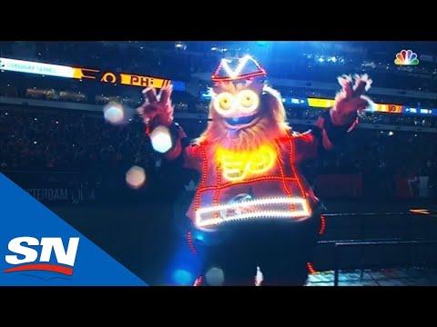 Gritty Kicks Off 2019 Stadium Series With Rocky Balboa Entrance