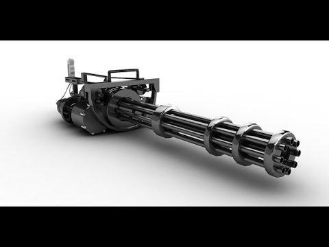 How To Make a Paper M134 Minigun Gatling Gun - Creative - Simple life Hacks 2017-[Piece of Paper]