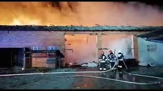 Pożar stodoły w miejscowości Popów