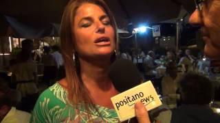 Monica Sarnelli intervista al ristorante la torre