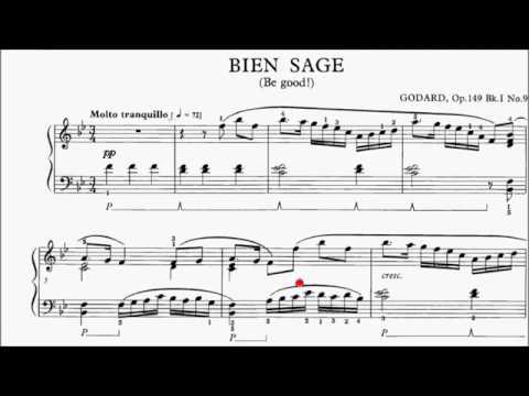 HKSMF 70th Piano 2018 Class 117 Grade 5 Godard Op.149 No.9 Bien Sage (Be Good) Sheet Music 校際音樂節
