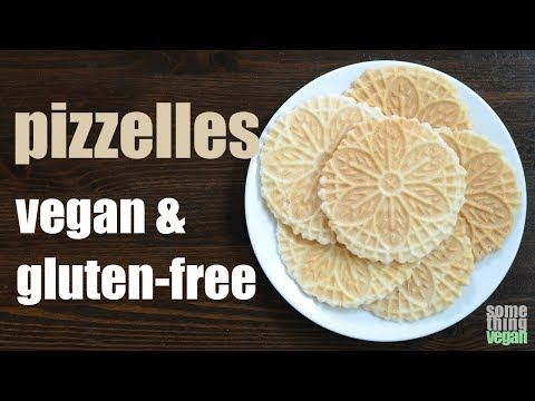 pizzelles (vegan & gluten-free) Something Vegan
