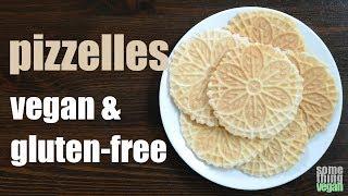 pizzelles (vegan & gluten-free) Something Vegan