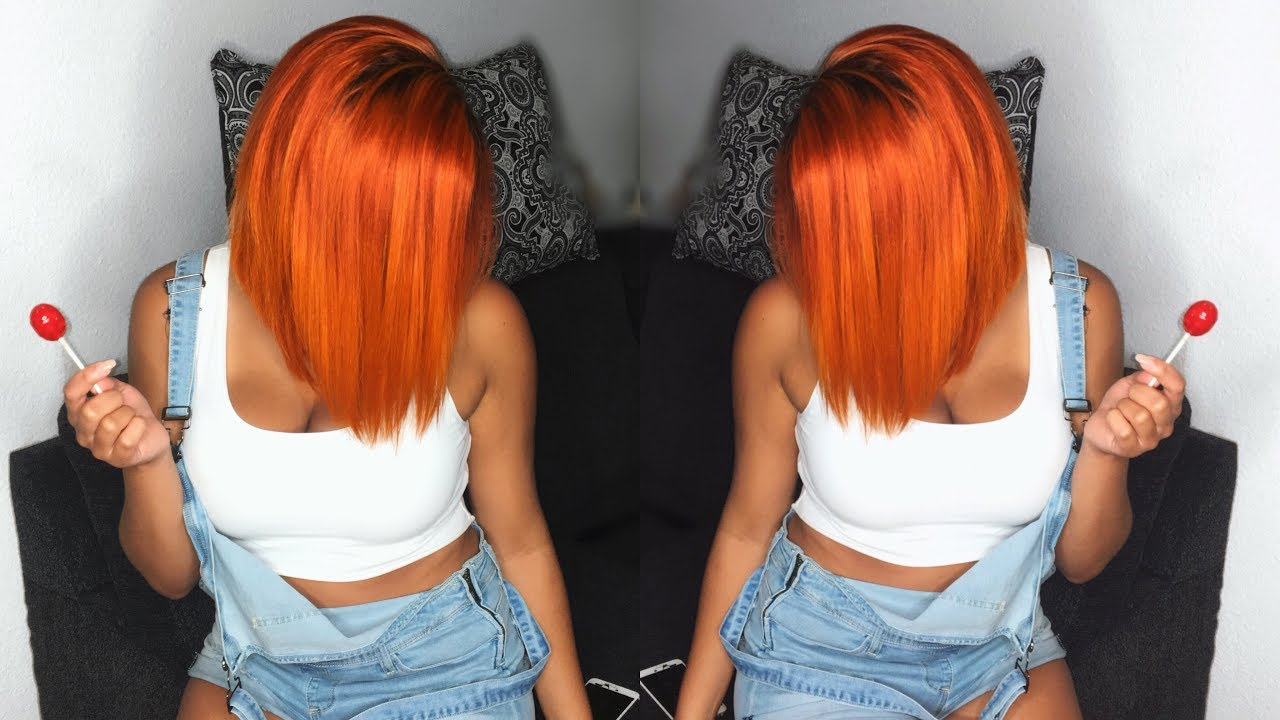 HOW TO GET ORANGE HAIR EASY! | BESTLACE WIGS - YouTube