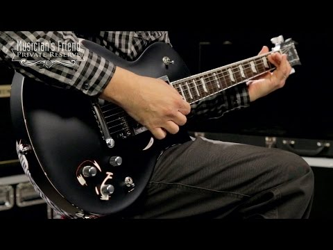 ESP James Hetfield Truckster Electric Guitar, Satin Distressed Black