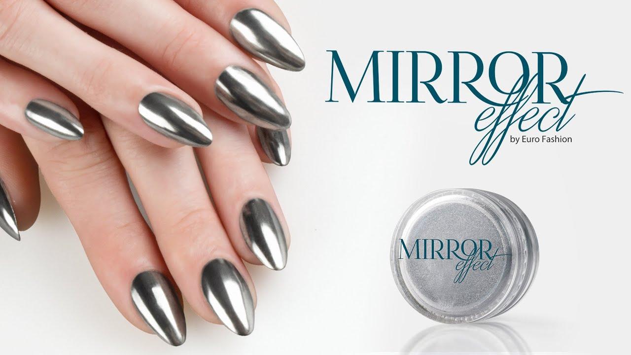 Mirror Effect Nails Euro Fashion - YouTube