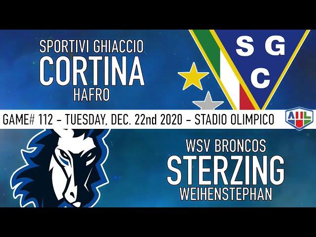 CSG CORTINA HAFRO vs WSV BRONCOS STERZING - 22 Dicembre 2020