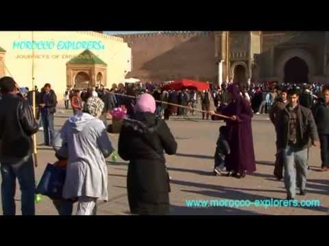 Meknes Imperial City - medina traditional entertainers, storytellers and conjurers