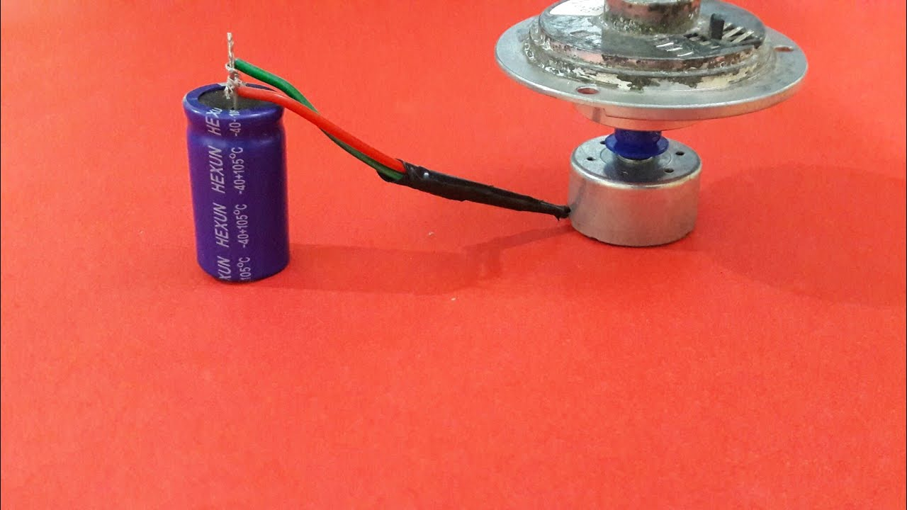 Experiment with capacitor dc motor youtube experiment with capacitor dc motor sciox Choice Image