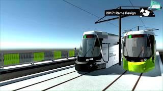 3ème ligne de tramway Stéphanois : la pose des rails et les nouvelles rames CAF Urbos 3