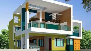 Modern House Building Front Elevations Designs / Ideas for Ground floor and first floor