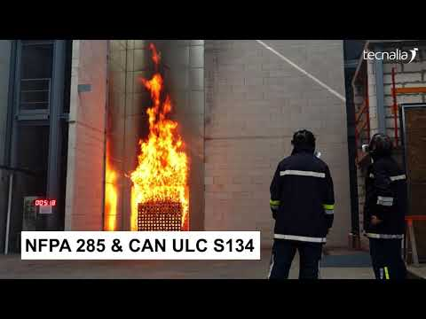 <p>Ensayos de fuego en los laboratorios de TECNALIA (inglés)</p>
