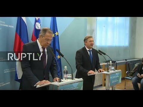 LIVE: Lavrov and Slovenian FM give press conference in Ljubljana