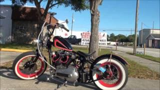 Vintage 73 Custom Harley Davidson Ironhead Bobber Motorcycle