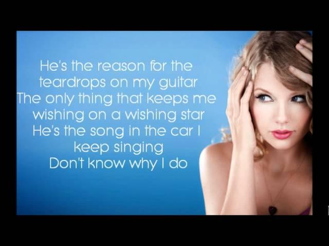 Teardrops On My Guitar Taylor Swift Lyrics Chords Chordify