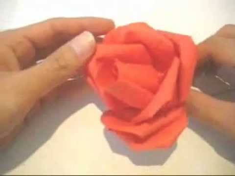 Dollar Bill Rose Paper Flowers Instructions