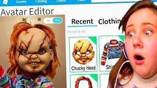 MAKING CHUCKY A ROBLOX ACCOUNT!!